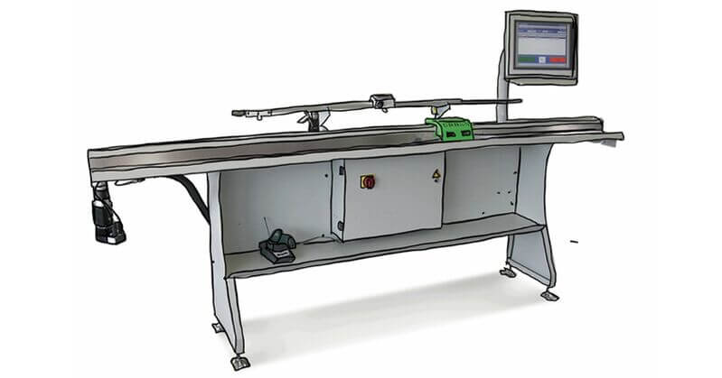 Urban GmbH & Co. Maschinenbau KG Products Stop & Measuring Systems - Roller Conveyors LAEG2600 Length Stop