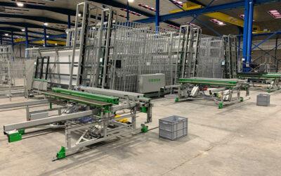 Aluminium-window production live at customer